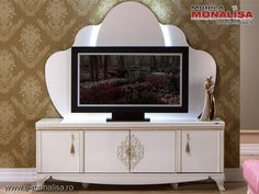 Comoda TV pt. Living elegant - Vienna alb fildes de Lux Vienna, Flat Screen, Entertaining, Elegant, Furniture, Home Decor, Blood Plasma, Dapper Gentleman, Homemade Home Decor