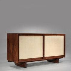 early double sliding door cabinet by george nakashima