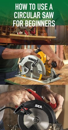 How To Use A Circular Saw For Beginners Types Of Saws, Circular Saw, Power Tools, Hand Tools, Being Used, Electrical Tools, Router Jig