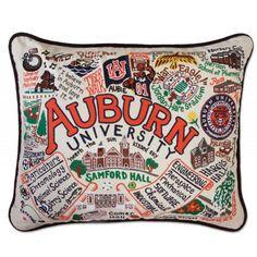 Auburn University Embroidered Pillow - Catstudio   P.C. Fallon Co.