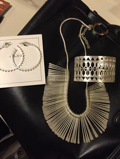 Essential Fringe necklace in silver $59. Bracelet Plait Cuff $69, Isadora Hoops $17. Stella & Dot Jewelry from the new 2016 Spring Line inspired by Greece and Morroco. I ❤️ these! Shop my stylist link! They'll go fast! www.stelladot.com/sarahsproat