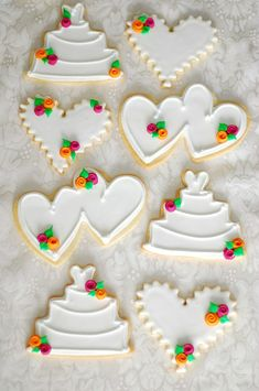 wedding decorated cookies