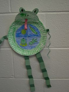 Life Cycle of a frog. The frog is made from a paper plate.