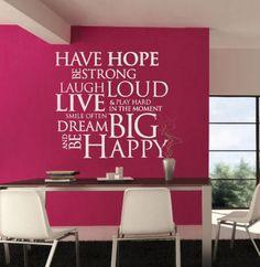 Wandtattoo - Wandaufkleber - Have Hope, Be Happy - ein Designerstück von Wall-Decals bei DaWanda