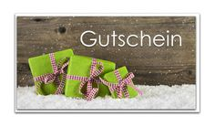 Deko und Accessoires für Weihnachten: 3 Stück Weihnachtsgutschein in grün rot; Din lang made by Logbuch-Verlag - mit Herz - made in Bavaria via DaWanda.com