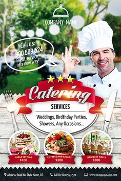 Catering Flyer Template Free - Catering Flyer Template Free , Catering – Premium Flyer Psd Template – by Elegantflyer Catering Design, Catering Menu, Catering Services, Catering Ideas, Food Menu, Free Psd Flyer Templates, Menu Template, Restaurant Flyer, Restaurant Service