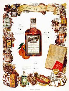 1951 Cointreau Liqueur original vintage ad