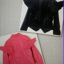 Size 2t-8t.  Pink color/black color
