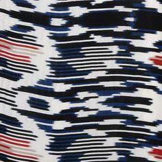 Blue Ikat Silk Print - Silk - Fabrics