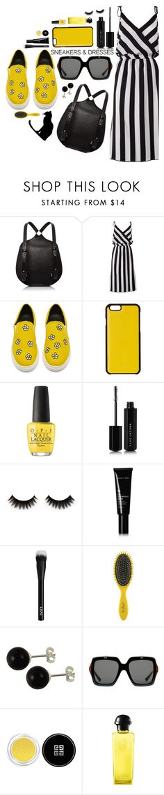 """""""happy"""" by sandevapetq ❤ liked on Polyvore featuring Marc Jacobs, Knomo, OPI, Allies of Skin, NYX, Drybar, Gucci, Givenchy and Hermès"""
