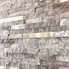 Stainless steel and stack-stone!😍    #stainlesssteel #stackstone #stone #comforttexas #leonsprings #fredricksburg #helotes #bathroom #shavanopark #chicago #newyorkcity #california #cali #boernetexas #boerne #sanantonio #diy #interiordesign #architects #architecture #design #tiles  #designers #tilestore #floor #flooring #floors #walltiles #walltile #texture 📧Info@tilestudio925.com ☎️830-368-4204 Boerne Texas, Tiles For Sale, Tile Stores, Wall Tiles, Architects, Floors, Architecture Design, Chicago, Designers