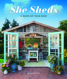 Go to the blog to enter to win one copy of the new She Sheds book.