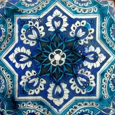 Tile decal : Indian Blue pottery diamond design by Bleucoin Islamic Tiles, Islamic Art, Tile Art, Mosaic Tiles, Mosaics, Tile Patterns, Textures Patterns, Tile Design, Pattern Design