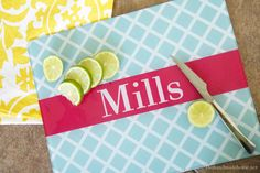 personalized cutting boards...cute Mother's Day gift!
