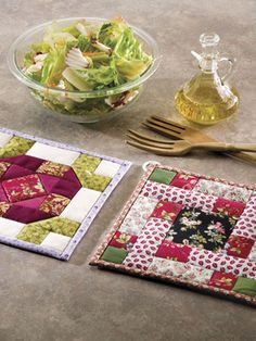 Easy Quilting for Beginners - Beginner Quilting Patterns - Free Quilting Pattern -- Organic Garden