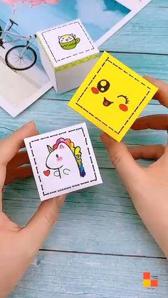Diy Crafts Hacks, Diy Crafts For Gifts, Diy Crafts Videos, Creative Crafts, Diy Projects, Cool Paper Crafts, Paper Crafts Origami, Fun Crafts, Kawaii Crafts