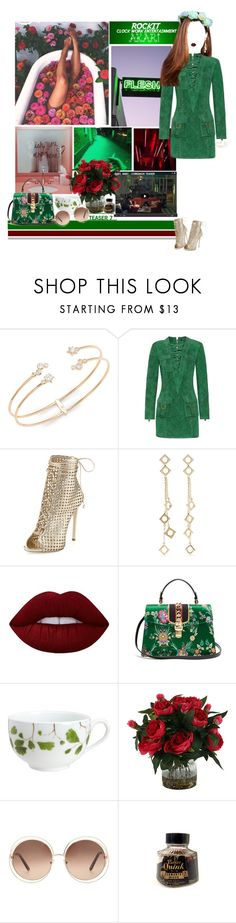 """""""«TEASER 7» BABY, BABY [AKARI]"""" by cw-entertainment ❤ liked on Polyvore featuring Nadri, Balmain, Giuseppe Zanotti, Arme De L'Amour, Lime Crime, Gucci, Raynaud, Chloé and Parker"""