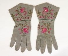 Victorian embroidered gloves