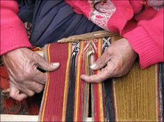 Threads of Peru. Some of the most beautiful and most intricate textiles in the world come from Andean Peru/ Bolivia. They use plant based natural dyes and wool from llamas and alpacas on looms that are akin to those used by cultures predating the Inca. The designs in each textile have cultural symbols and identity woven in that other members of the communities are able to read and interpret. I truly hope this tradition is not lost in future generations.