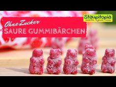 Saure Low Carb Joghurt Gummibärchen selber machen I Low Carb Weingummi Rezept schnell und einfach - YouTube