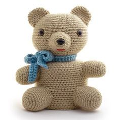 """TEDDY BEAR"" CROCHETED TOILET PAPER COVER ❤ Pattern in ""Amigurumi Toilet Paper Covers"" by Linda Wright. http://amazon.com/dp/0980092361/"