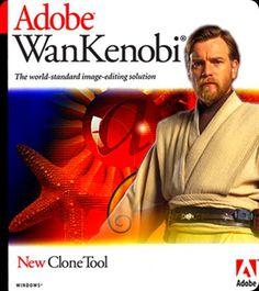 Adobe Wan Kenobi. Now with Clone Tool. Haha too funny!!
