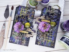"Handmade by Nadya Drozdova: Mixed-media tags ""Create art Every day"""