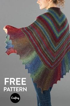 The body of the shawl begins at the center and increases to the bottom edge. The edging pattern is written and charted making it easy to follow along with. Get the knitting pattern for free at Craftsy!