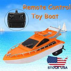RC boat Boat Ship Speed Boat Electric Remote Control Kids Boys Toy 26x7.5x9 cm #Doesnotapply