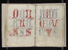 Manuscript on parchment of Gregorius Bock, Scribal Pattern Book.