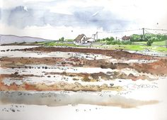 Urban Sketchers: Saying goodbye to summer at Killeenaran, Co. Galway...but it has its compensations