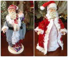Two Santas I made:)