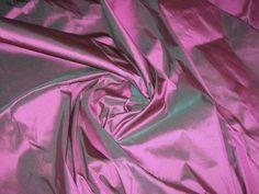 Purple Shot Green 100% Authentic Silk Fabric