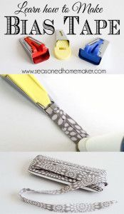 Bias Tape Tutorial: Making Bias Tape is easier than you think. Once you learn this simple sewing technique you will never purchase bias tape again. sewing   how to sew #seasonedhome