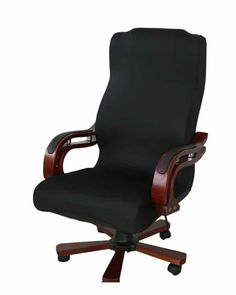 Buy ELEOPTION Office Chair Seat Cover Stretch High Back Large Size, Universal Chair Cover for Computer Chair Executive Chair Rotating Swivel Chair Boss Chair Slipcovers Modern Style (Large, Black) Desk Chair Covers, Seat Covers For Chairs, Best Office Chair, Swivel Office Chair, Office Chairs, Office Desk, Desk Chairs, Office Seating, Wooden Chairs