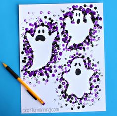 halloween // Pencil Eraser Ghost Craft for Halloween