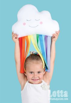 A cuddly cloud softie raining rainbows. Full instructions in Lotta Magazine Colour Issue.