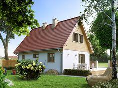 Motylek 2 (73,27 m2) to nieduży projekt domu mieszkalnego. Pełna prezentacja projektu dostępna jest na stronie: https://www.domywstylu.pl/projekt-domu-motylek_2.php. #projekty #projekt #domy #dom #domywstylu #mtmstyl #nawąskądziałkę #wąskadziałka #aranżacje #design #architektura #home #houses