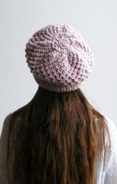 Light pink Slouchy beanie Slouchy hat Winter