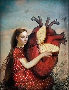 """""""Only for You"""" by Catrin Welz-Stein, digital photo collage anatomy artwork, 2014."""
