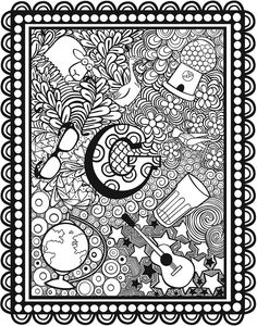 Pin by gena andreano on alphabet coloring раскраски Alphabet Coloring Pages, Cute Coloring Pages, Doodle Coloring, Adult Coloring Pages, Coloring Books, Coloring Sheets, Letter Art, Alphabet Letters, Doodle Art Journals