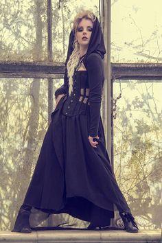 Coven Black jacket cloak oversized hooded long by BattieClothing, £60.00