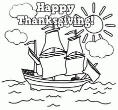 Fall Thanksgiving Day Coloring Pictures