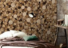 This Decorative Logs Wall Panelling wallpaper is Specially Designed and Custom Made to fit almost Any Size of Your Walls! As a great revolution of