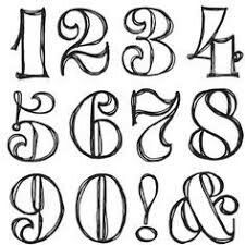 Number calligraphy