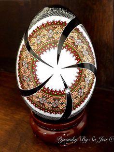 Made To Order Rushnyk Pysanka Pysanky Batik Ukrainian Style Easter Egg Art EBSQ Plus on Etsy, $175.00