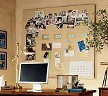 This Modular Linen Pinboard Tiles are great for Inspiration Boards, as well as displaying photos and papers. Available at Pottery Barn Home Office, Desk Office, Office Spaces, Work Spaces, Small Office, Bulletin Board Design, Bulletin Boards, Magazine Deco, Chalkboard Decor