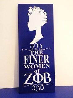Cute & Curly Finer Women Zeta Plaque | SororityGirlGraphics