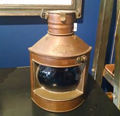 #Starboard! This is a nice little lamp for a den or office... from #Annapolis #Maritime #Antiques