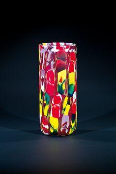 Vase ''Farfalle'' Pollio Perelda (Entwurf), Fratelli Toso, Murano. Foto tomada de Live Auctioneers